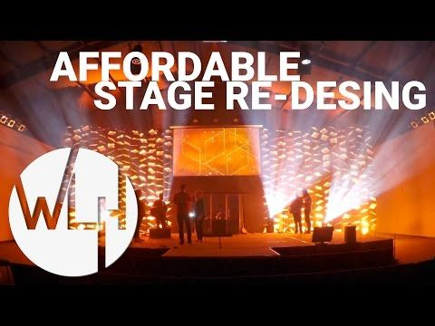 Church Stage Design Ideas : Vertical Stripes : Coroplast   YouTube