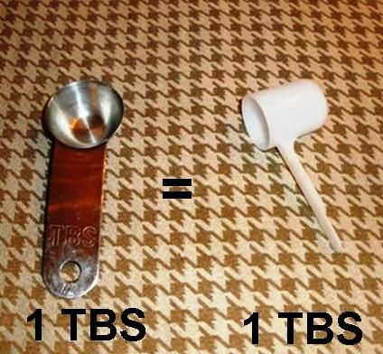 Formula Scooper = 1 TBS