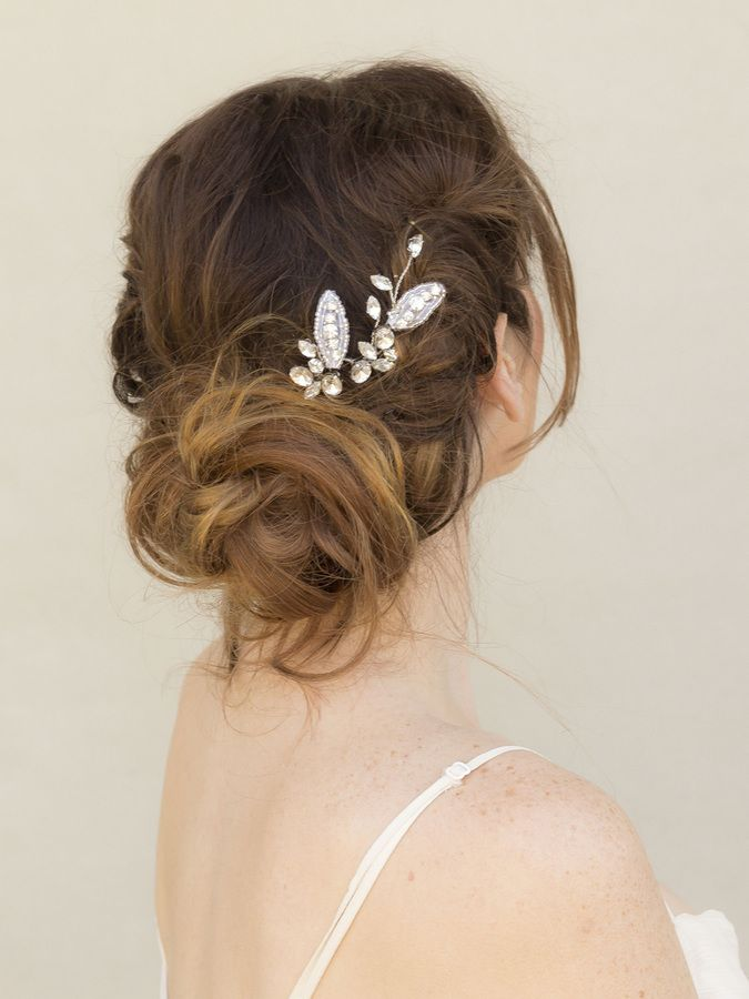 Bridal Hairstyle With Rose : 76 best bobby pins and barrettes images on pinterest