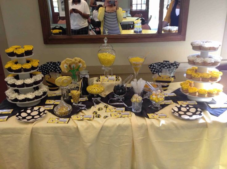 BumbleBee Themed Baby Shower Candy Table