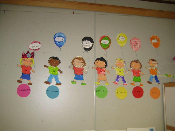 Birthday Calendar In Kindergarten : Best images about school verjaardagskalender on