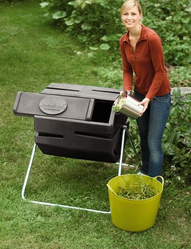 Dual-Chamber Tumbling Composter for Easy Batch Composting