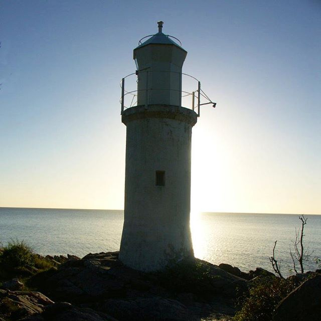 Sunrise behind Stenshuvud Lighthouse