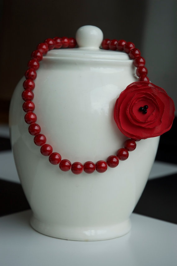 Pinup necklace by MadeWithLovebyGen on Etsy, $18.00