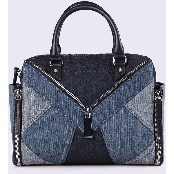 Diesel LE-TRASY Satchels And Handbags ($320) ❤ liked on Polyvore featuring bags, handbags, blue jeans, satchels and handbags, women, diesel handbags, satchel purses, top handle satchel, shoulder strap purses and satchel handbags