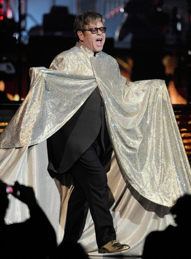 "Elton John wears Geox footwear designed by Patrick Cox for ""Million Dollar Piano"" shows"