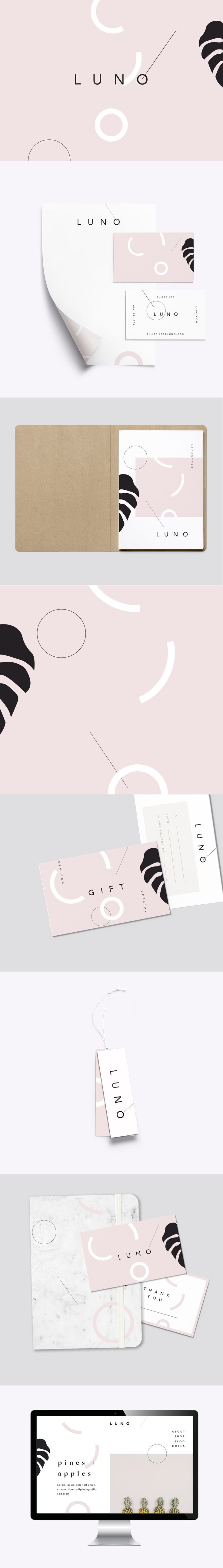 Minimal brand concept and branding package. Available / loolaadesigns.com