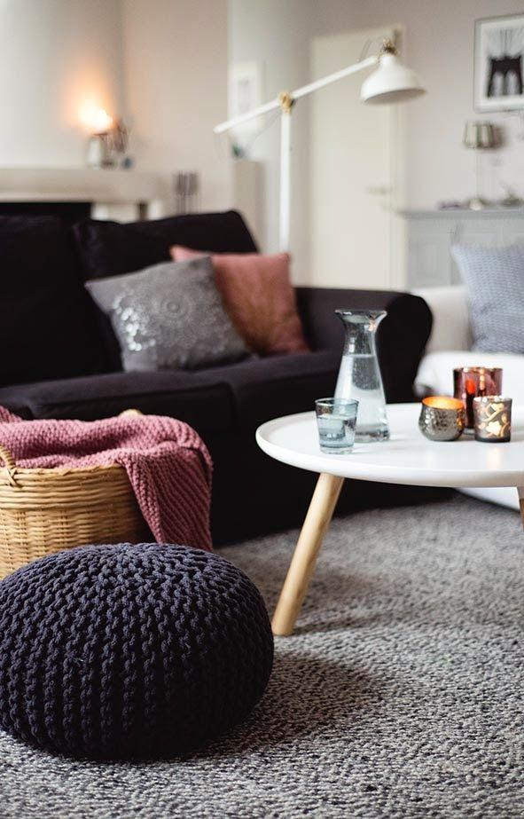 berry & grey color scheme