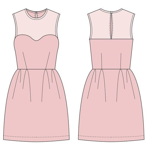 Elizabeth Dress Free! This dress features a sweetheart neckline, darts, pleats, bias binding and a button closure. Make the yoke out of a sheer or different fabric for contrast!