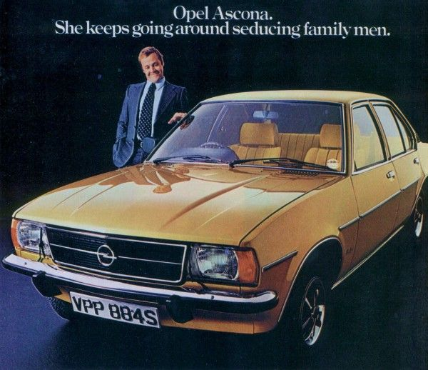 The Opel Ascona keeps on seducing family men?