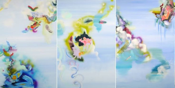 """Saatchi Art Artist Justyna Pennards-Sycz; Painting, """"Physalia Physalis learning to fly, # 356"""" #art"""