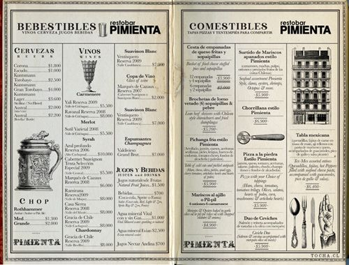a division of underconsideration cataloguing the underrated creativity of menus from around the world - Menu Design Ideas