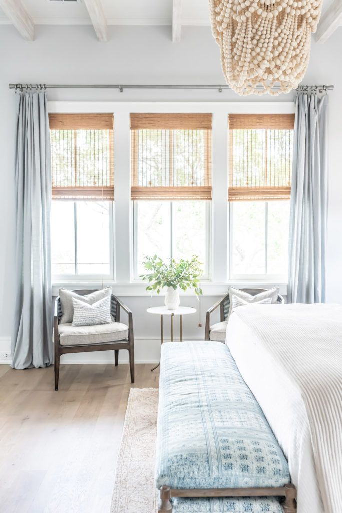 Wednesday Watch List / Gorgeous master bedroom with bright and airy windows, a b…   – Best Decorations
