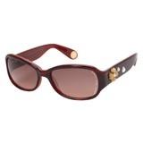 Retro Style Flower Detail Sunglasses