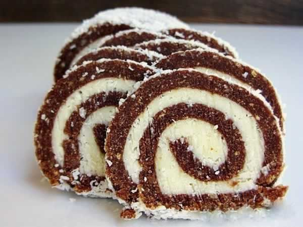 Recipe for Coconut Roll! Delicious dessert that can be done in half an hour without baking!