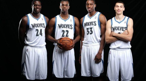 Daily Garlic: Anthony Bennett, Andrew Wiggins, Thaddeus Young, and Zach LaVine introduced as Timberwolves in new photoshoot