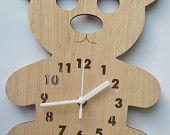 clock for a nursery or babies room - teddy.