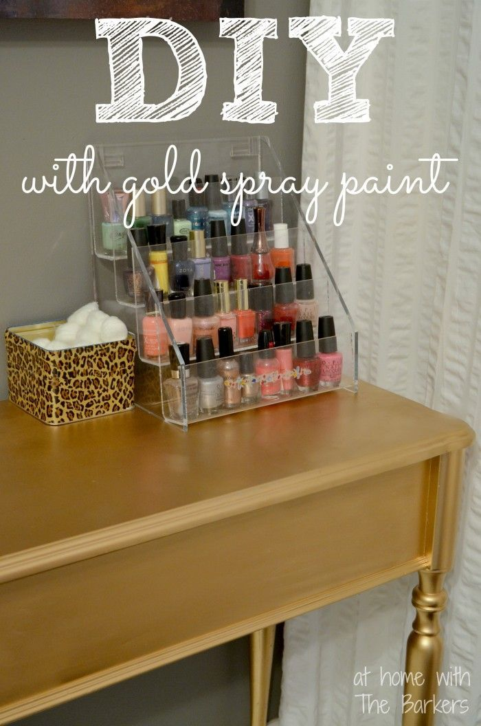 DIY Gold Painted Table with Metallic Gold Spray Paint