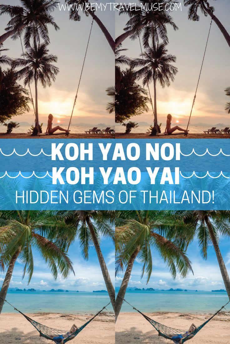 Thailand is known for its beautiful islands, but a lot of places are often  crowded with tourists. Koh Yao Noi and Koh Yao Yai are perfect for those  who want ...