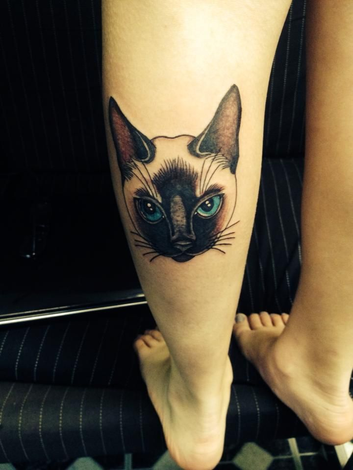 My Siamese cat tattoo