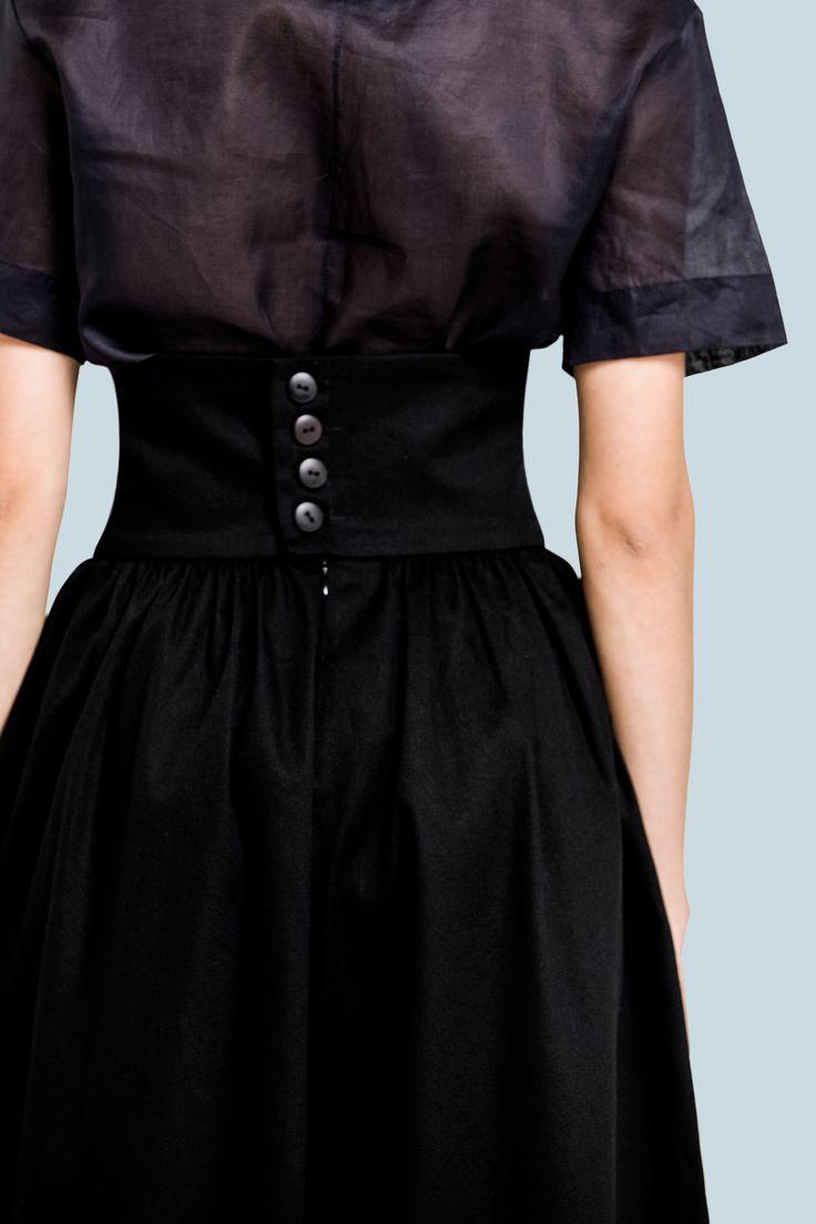 Брюки палаццо с высокой талией и карманами от бренда FINCH