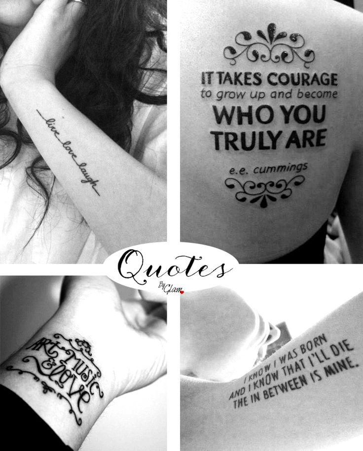 Cette semaine parlons des phrases tattoo comme des mantras / Let's talk about Quotes as tattoo