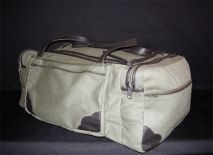 Canvas And Leather Luggage bag