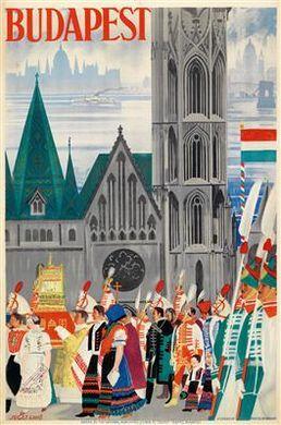 Ernő Jeges' travel poster 193x - Budapest