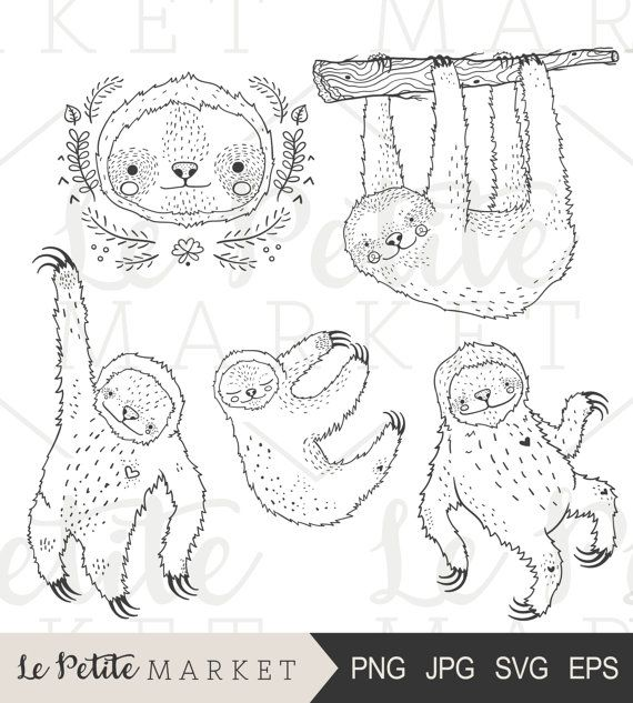 Hey, I found this really awesome Etsy listing at https://www.etsy.com/listing/476924942/hand-drawn-sloth-clip-art-cute-sloth