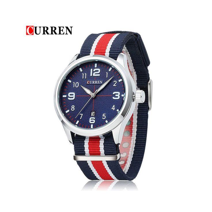 2016 hombres de marca CURREN moda relojes deportivos hombres reloj de cuarzo hombre Nylon ejército correa militar relojes de pulsera Relogio Masculino