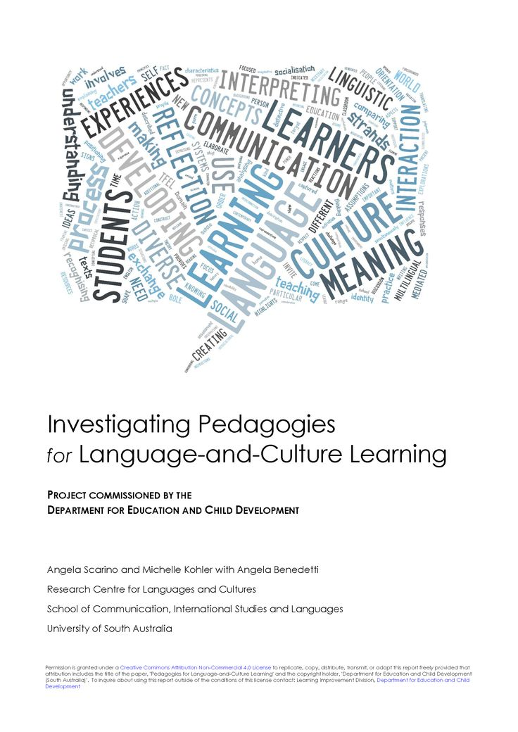 Download 'Investigating Pedagogies for Language-and-Culture Learning' report  The purpose of this paper is to outline the relationships between:  • The Teaching for Effective Learning (TfEL)Framework • The Australian Curriculum: Languages • The Shape of the Australian Curriculum: Languages and the language-specific curricula  Find related posts: #decdlanguages #languages #pedagogy #cultures
