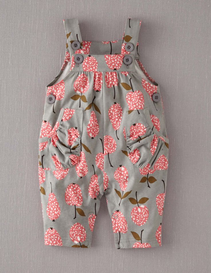Mini-Boden-Baby-Brand-New-Jersey-Dungarees-Grey-Apples-Pears-Cotton