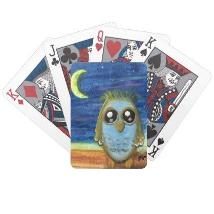Living by the Light of the Moon Bicycle Playing Cards  $25.55  by JillthePillDesign  - custom gift idea