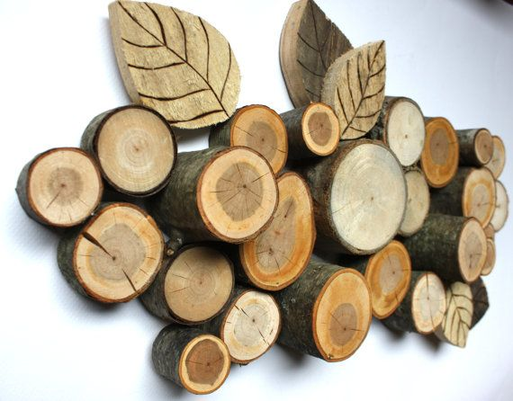 Branch and Pallet Wall Hanging  Wall art  by SoftIndustry on Etsy, $55.00