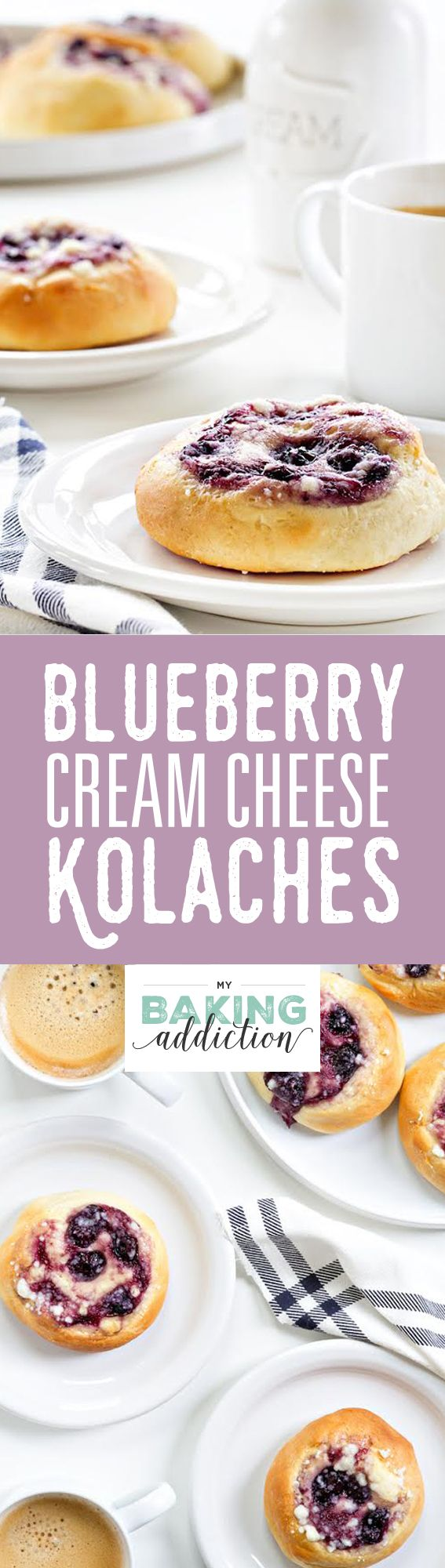 Blueberry Cream Cheese Kolaches are an amazing pastry you must try. Sweet, savory, and completely delightful! from @bakingaddiction