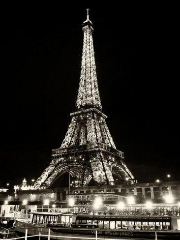 Eiffel Tower - Bateau mouche vedette de Paris - France Photographic Print by Philippe Hugonnard - at AllPosters.com.au