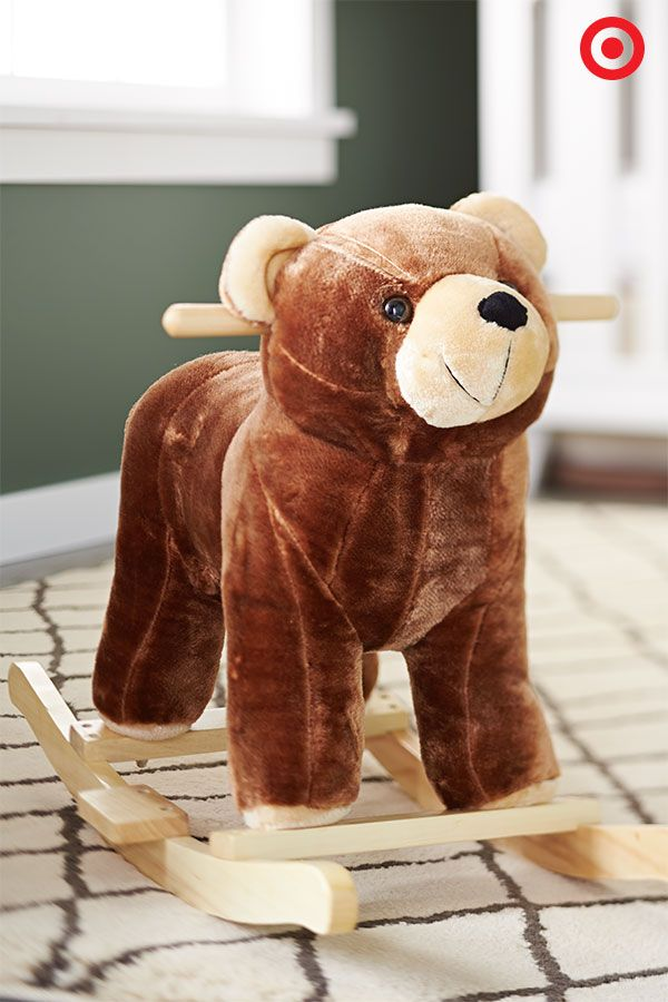 Bring joy and laughter to your little one with the Happy Trails Plush Rocking Bear.  This sweet little rocker features wooden handles, a sturdy core and rockers, and a soft, comfy exterior for tons of playtime fun. Yeah, it also burns lots of extra energy.