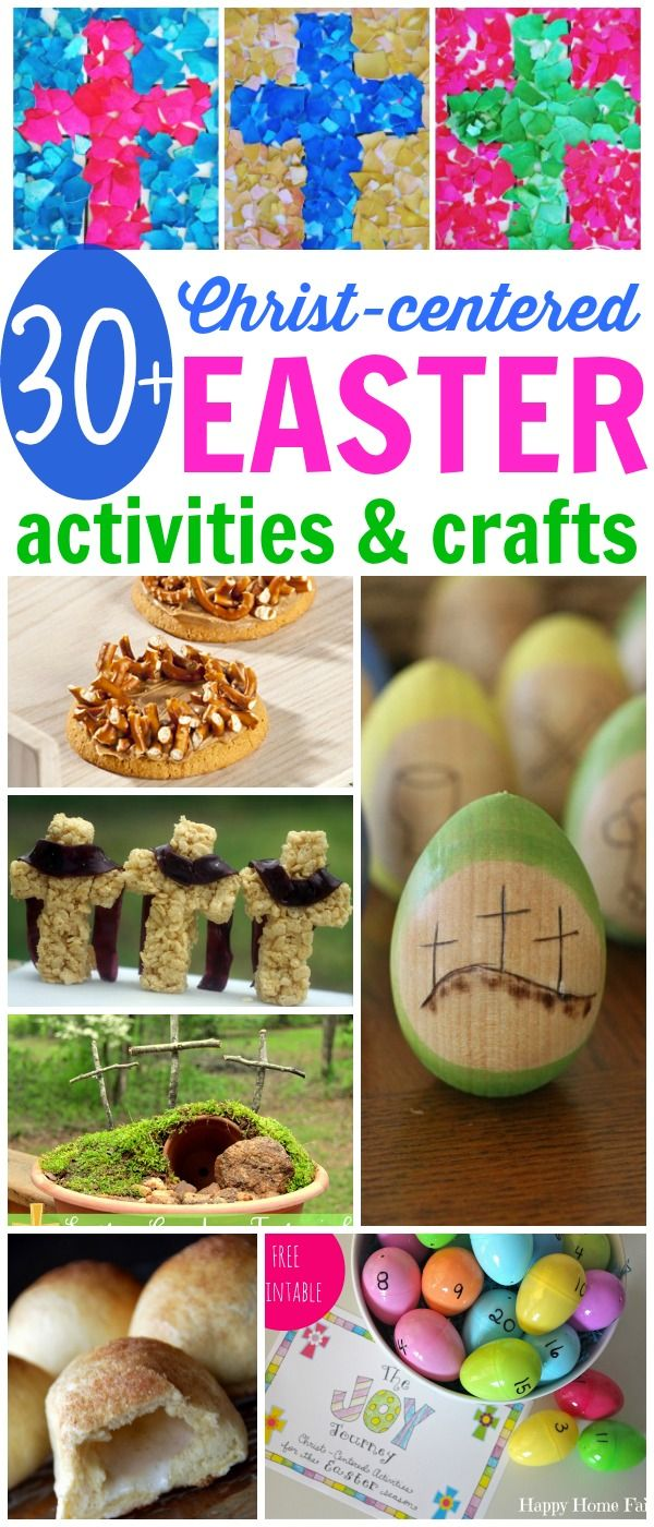 Christ-centered Easter Activities and Crafts:  Make the death and resurrection of Christ both meaningful and memorable!