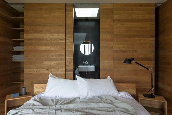 bedroom - Fearon Hay Architects - Storm Cottage house