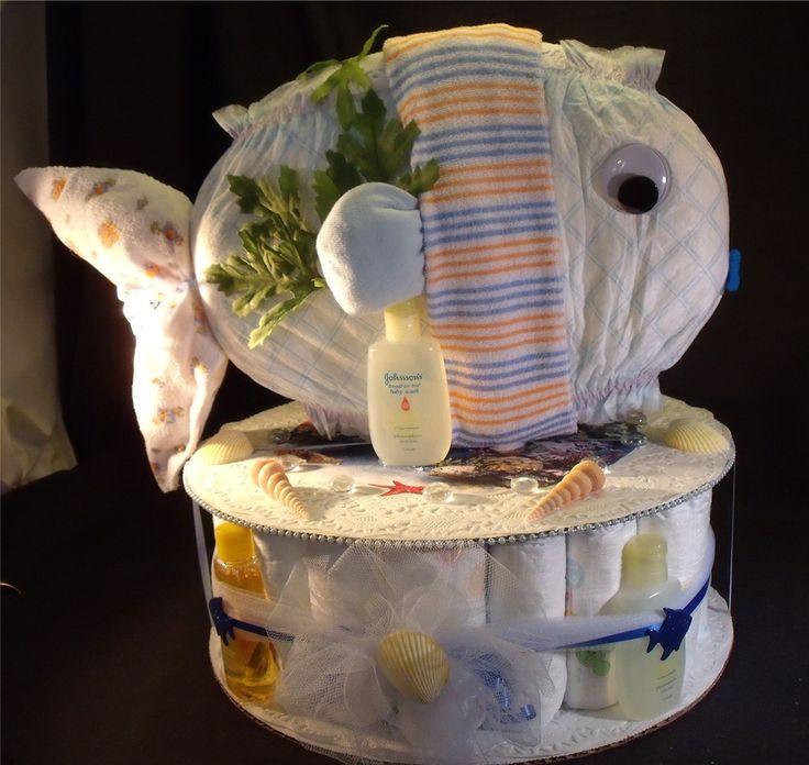 Judicakes Ocean Fish Baby Shower Gift Diaper Cake Sea