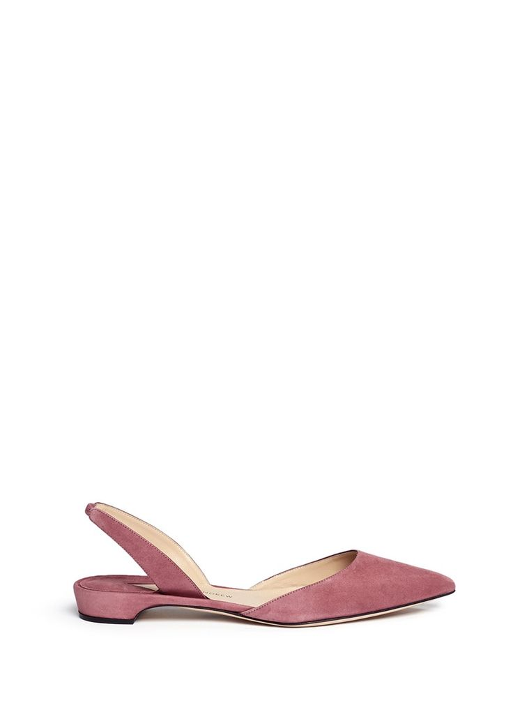 PAUL ANDREW 'Rhea 15' suede slingback flats. #paulandrew #shoes #flats