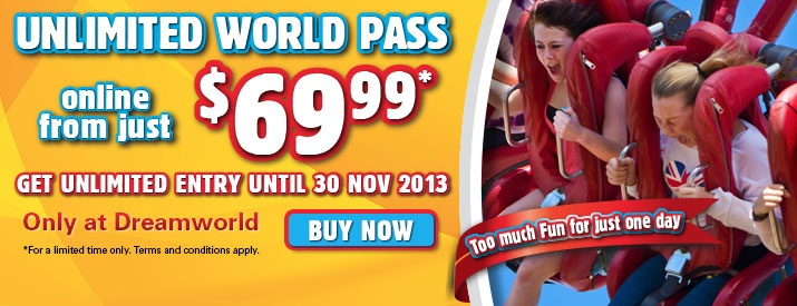 Unlimited World Pass - Until Nov 2013