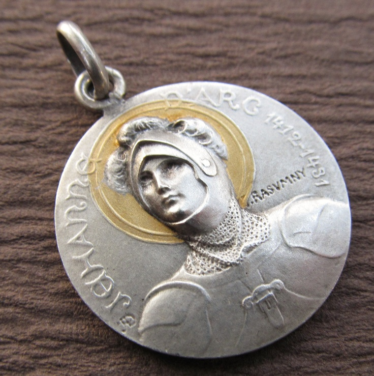 The 218 best jeanne darc medals images on pinterest joan of arc joan of arc in armor antique sterling silver gold halo antique religious medal signed rasumny ss402 aloadofball Gallery