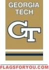 "Georgia Tech Yellow Jackets Applique Banner Flag 44"" x 28"""
