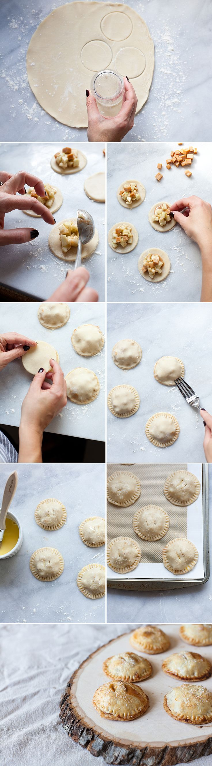 How to make mini hand pies- step by step instructions plus a recipe.