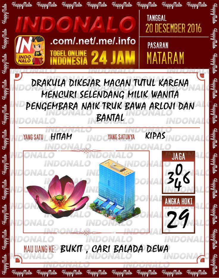 Undian Lotre 4D Togel Wap Online Live Draw 4D Indonalo Mataram 20 Desember 2016