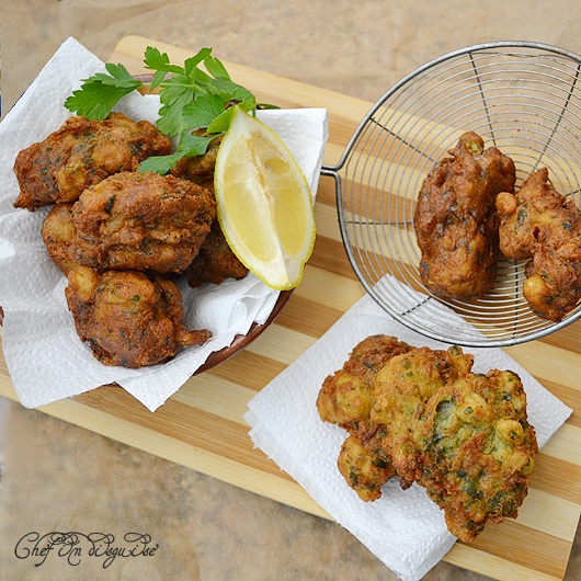Middle Eastern cauliflower fritters