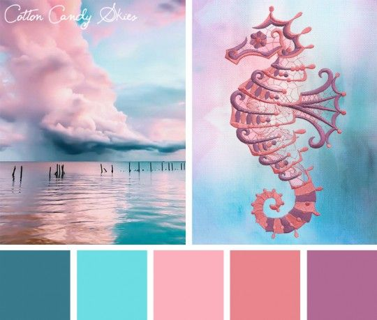 Color Inspirations Cotton Candy Skies Stitchpunk For The Home Sunset Color Palette