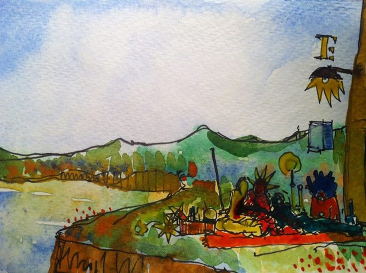 The Red Carpet And The Grass '12#illustration #sketch #drawing #art