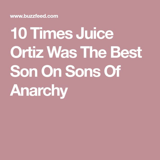 10 Times Juice Ortiz Was The Best Son On Sons Of Anarchy